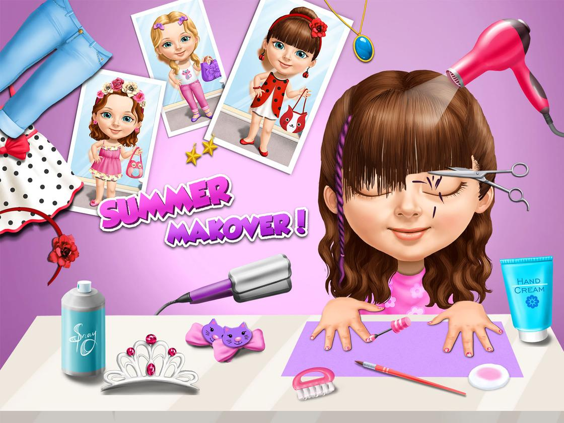 sweet baby girl summer fun 2 - game created with tutotoons
