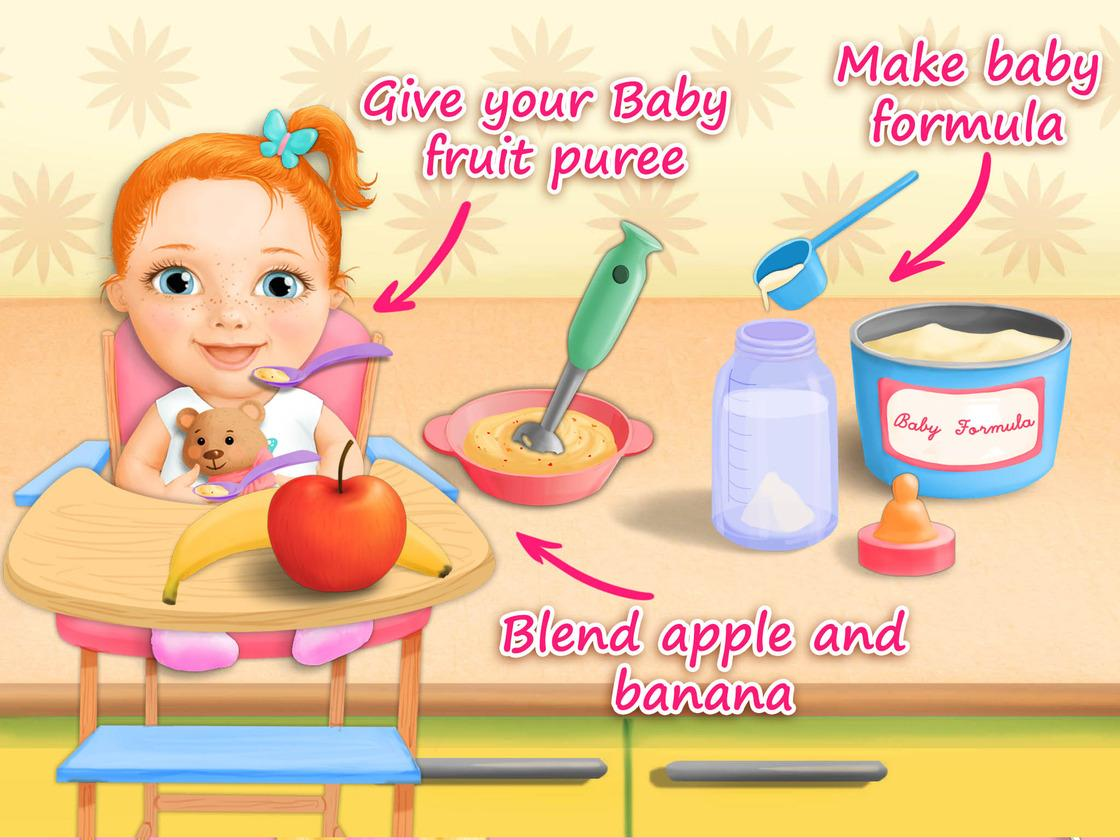 Sweet Baby Girl Newborn Baby Care Game Created With Tutotoons